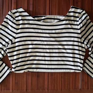 White House Black Market Striped Long Sleeve